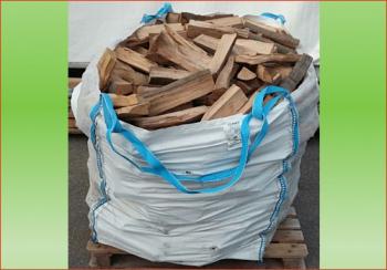 Buche-Eiche ca. 1.4 srm - Big Bag   Holzstück-Länge ca. 25 cm